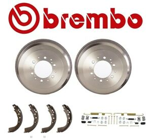 2 Brembo Rear Brake Drums Enduro Shoe Hardware Kit For Toyota 4runner Tacoma