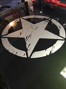 Army Star Distressed Decal Fits Jeep Large 20 Vinyl Military Hood Graphic Body