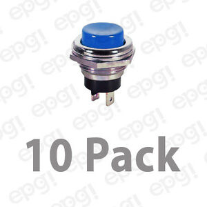 Spst n c Momentary Off Blue Push Button Switch 4amps 125vac 66 2424 10pk