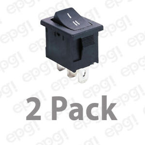 2 Pack Spdt on on Rocker Switch 10amps 120vac 66 2246 2pk