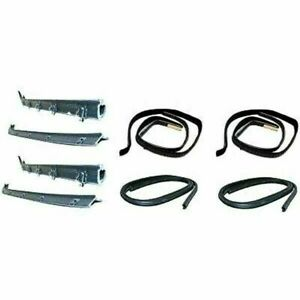New Set Of 8 Window Run Sweep Felts Weatherstrip Seals Kit For Chevy Gmc Trucks