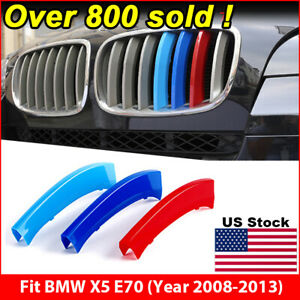 M Tech Kidney Grill Grille 3 Colour Cover Clips For Bmw X5 E70 Year 2008 2013
