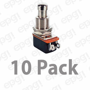 Spst n o Momentary On Metal Button Push Button Switch 10a 125vac 66 2432 10pk