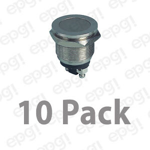 Spst n o Momentary On Anti Vandal Push Button Switch 4a 125vac pbs 28b2 10pk