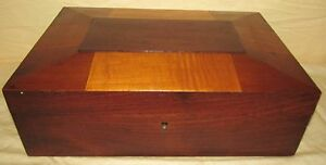 Original Shaker Mixed Woods Sewing Document Box With Full Interior