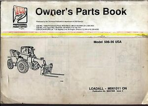 Jcb Parts Book Model 506 36 Loadall