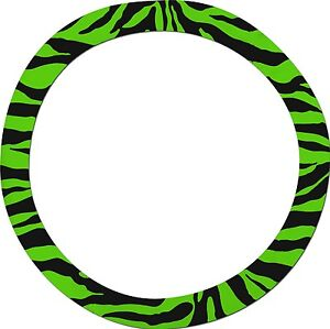 Green Zebra Steering Wheel Cover Like Seat Covers Or Choose Colors