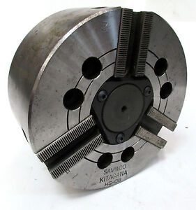 Kitagawa 6 5 Diameter 3 jaw Power Chuck 1 8 Thru Hole Model Hs 06