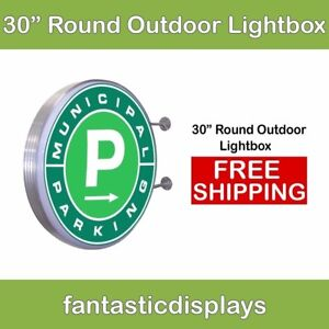 30 Round Outdoor Light Box Led Sign Holder For Retail Advertising