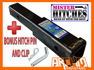 9 Hitch Extender To Suit Bike Rack Extension Towbar Adaptor Trailer 4x4 Car