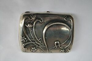 Magnificent Art Nouveau Gorham Sterling Silver Cigar Card Box Must See