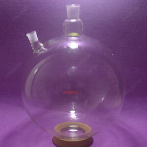 20000ml 20l 2 neck round Bottom Glass Flask customized Ground Joints