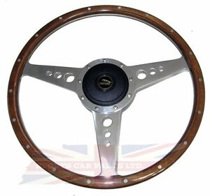 New 15 Wood Steering Wheel W Adaptor Hub Jaguar Xj6 1974 1987 Xjs Moto Lita