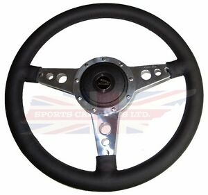 New 14 Leather Steering Wheel W Adaptor Hub Jaguar Xj6 1974 87 Xjs Moto Lita