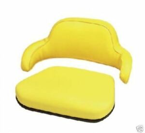 2 Piece Yellow Seat Cushion Set John Deere 2030 2040 2440 2640 2350 2550 jd lc