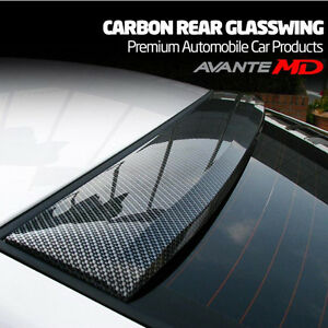 Mik Carbon Fiber Style Rear Roof Glass Wing Spoiler For Hyundai Elantra Md 11 15