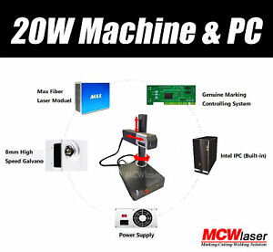 20w Fiber Marking Machine Laser Metal Engraving Fda Ce 110v 220v Dhl 4 5 Days