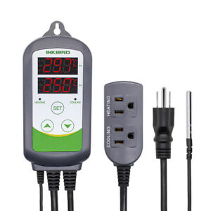 Heat Cold 110v Digital Temperature Controller Control Thermostat W Sensor Probe