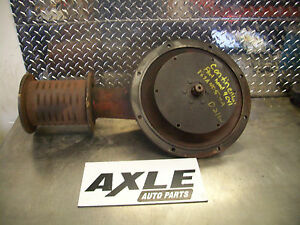 Vintage Flat Belt Pulley And Adapter Housing For Continental Power Plant Engine