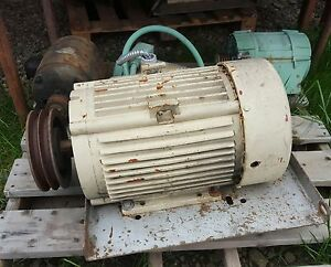 Ge Electric Motor 20 Hp 3 Phase 1770 Rpm