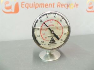 Anderson Oil Filled Pharmaceutical Stainless Pressure Gauge 932385 30 Psi
