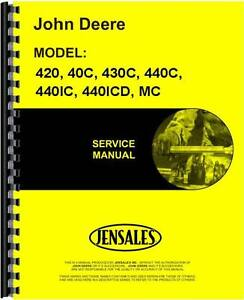 John Deere Crawler Service Manual 420 40c 430c 440c 440ic 440oicd Mc Jd mcrepro