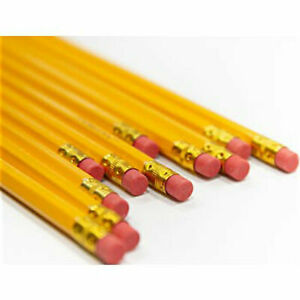 Only 0 12 Ea Wholesale Lot 576 Yellow 2 Graphite Pencils Unsharpened Erasers