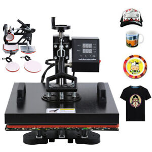 5in1 Heat Press Machine Transfer Sublimation Mug Cap Plate T shirt Sublimation