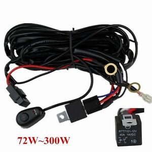Wiring Harness Kit 40a 14v On Off Switch Relay For 72w 300w Led Work Light Bar