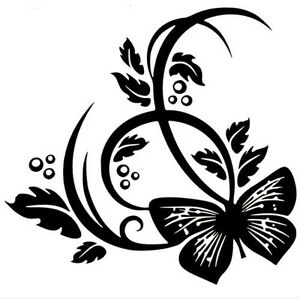 Butterfly Flower Sticker Vinyl Decal Car Laptop Window Wall Bumper Decor Gift