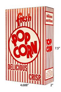 Paragon Part 1072 Popcorn Boxes 1 25 Oz 100 Per Case