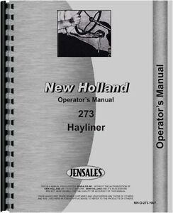 New Holland Operators Manual 273 Baler Sn 42027315 1976 Nh o 273 Hay