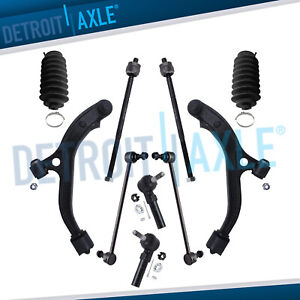 96 00 Caravan Town And Country 10pc Front Lower Control Arms Suspension Kit