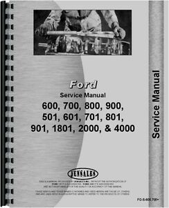 Ford Tractor Service Manual 600 700 800 900 18001 2000 4000 Series Fo s 600 700