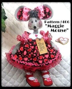 Primitive Raggedy Maggie Mouse Pattern 406 From Ginger Creek Crossing