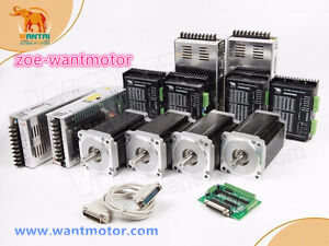 Free Usa Wantai 4axis Nema34 Stepper Motor 1232oz in 5 6a driver 80v Cnc Kit
