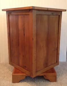 Revolving Display Stand Custom Made From Barn Wood