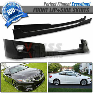Fit 08 10 Accord 2door Hfp Front Bumper Lip Spoiler Side Skirts Poly Urethane