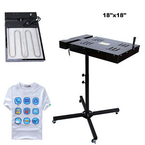18x18 Flash Dryer Silkscreen Equipment T shirt Printing Curing Adjustable Height