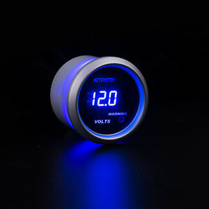 New Hotsystem Car 2 52mm Digital Led Voltmeter Volt Voltage Gauge White
