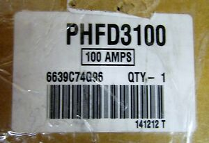 Cutler Hammer Phfd3100 3 Pole 100 Amp 600 V Bphfd 6639c74g96 For Transfer Switch