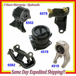 Engine Motor Trans Mount Kit 5pcs For 99 04 Honda Odyssey 3 5l Hydraulic M037