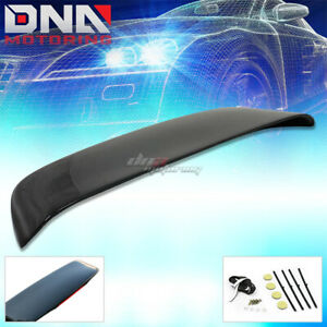 For Civic Ek Hatchback Spoon duckbill Frp Rear Roof Spoiler wing led Brake Light