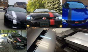 6 Hood Stripe Auto Graphic Decal Vinyl Car Truck Body Racing Stripe Universal