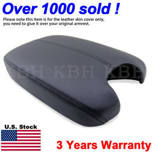 Fits 2008 2012 Honda Accord Leather Center Console Lid Armrest Cover Trim Black