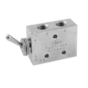Silver Tone Air Pneumatic 2 Position 5 Way Toggle Switch Valve Tac2 41v