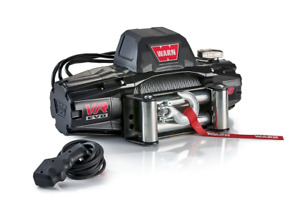 Warn 103250 Vr8 12v 8000 Pound 94 Foot Cable Metal Rope Self recovery Winch