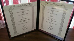 10 Units Restaurant Menu Covers 8 1 2 X 11 Double Page 4 Views Black Trim