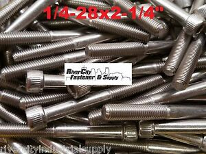 100 1 4 28x2 1 4 Socket Allen Head Cap Screw Stainless Steel Fine Thread 2 25
