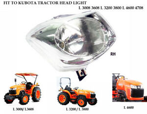 Use For Kubota L 3608 L 3200 3800 L 4600 4708 Right Side Head Lights Head Lamps